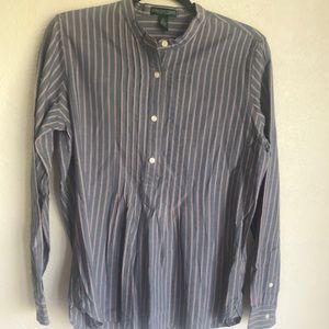 4/$20 Lauren Ralph Lauren collarless blouse M